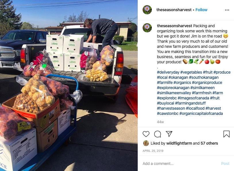 The Seasons Harvest Instagram